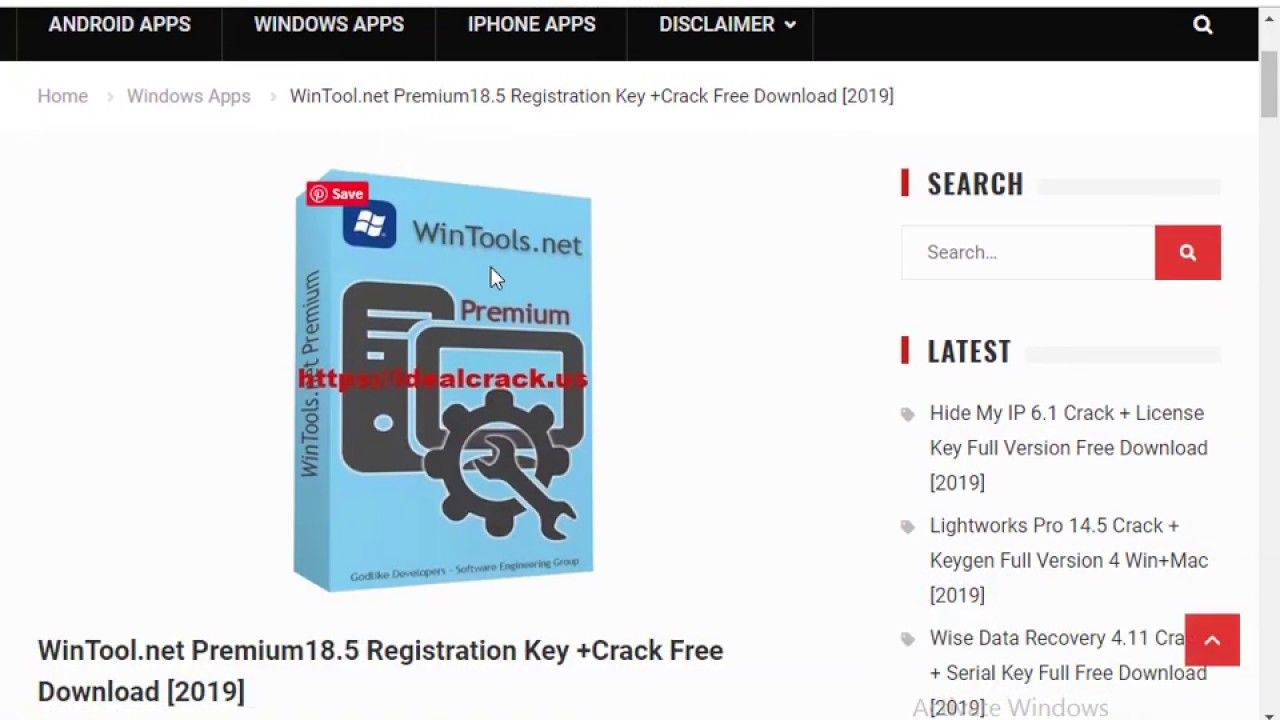 WinTool net Premium18 5 Registration Key +Crack Free