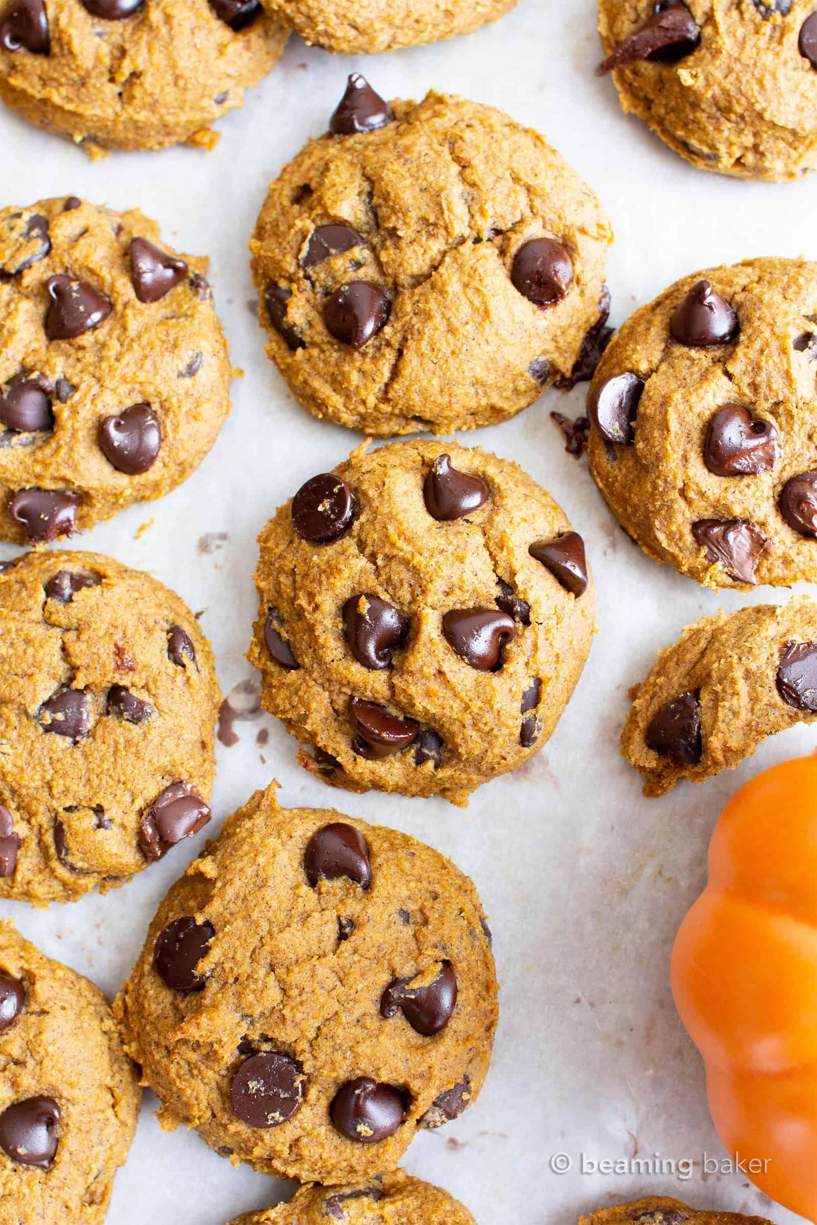 Gluten Free Vegan Pumpkin Chocolate Chip Cookies He Pumpkin