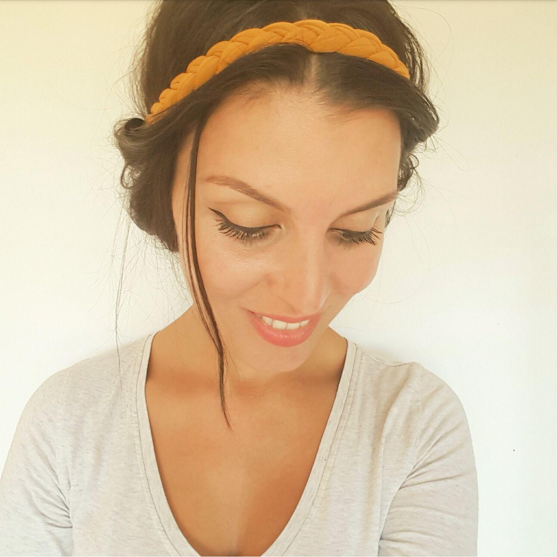 Headband cheveux jaune moutarde tressé femme, serre-tête tresse style  hippie et bohème   Accessoires coiffure par menina-for-mathis bceb91c15a4