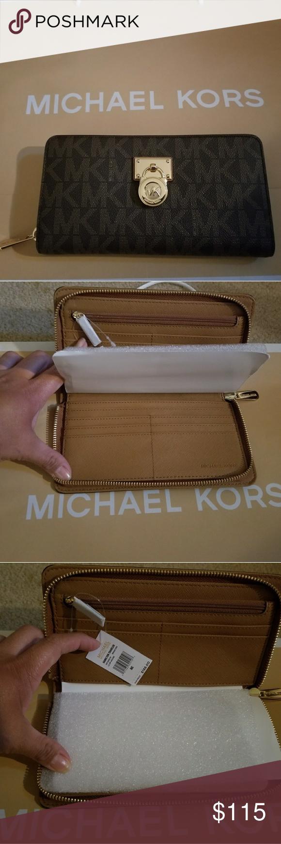 8d9adf76f7b5 NWT MK Large Traveler Wallet NEW WITH TAGS MICHAEL KORS HAMILTON LARGE  TRAVELER PURSE BROWN Michael Kors Bags Travel Bags