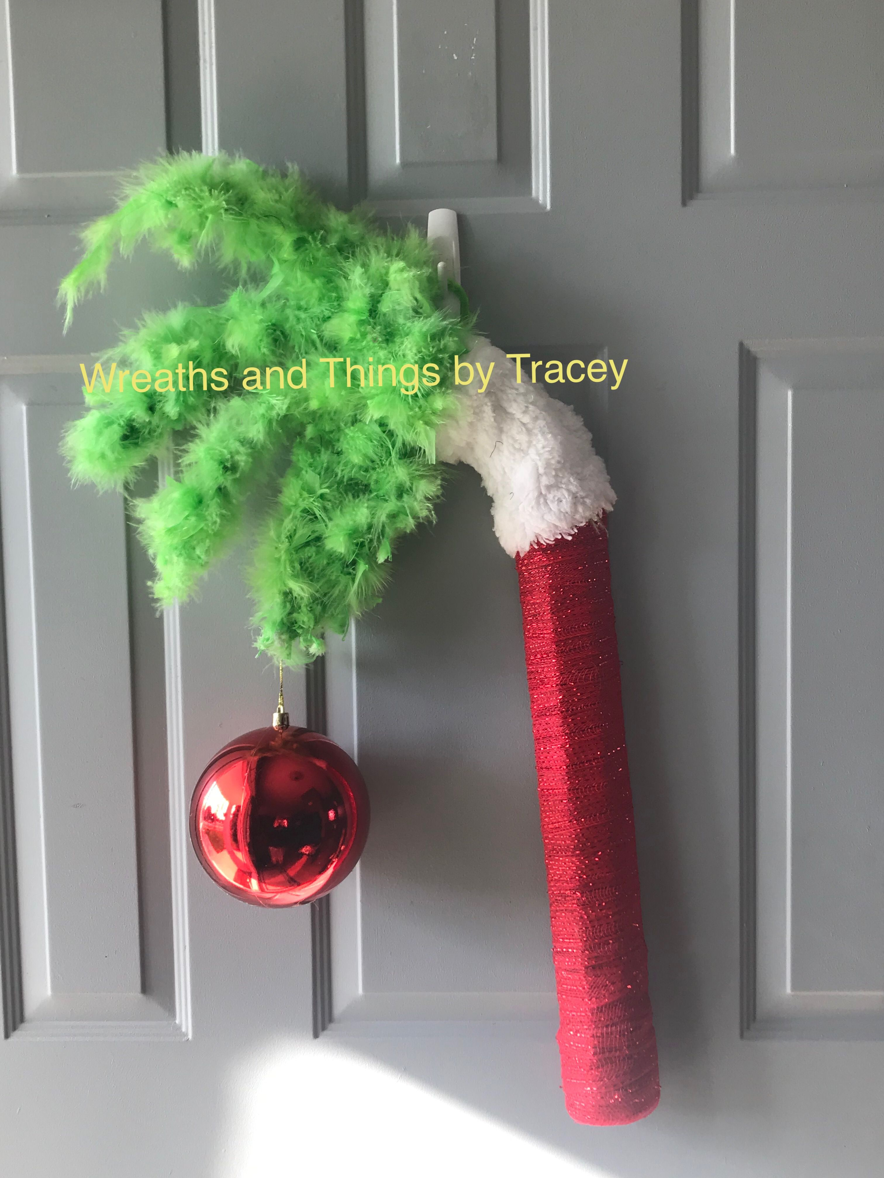 Grinch Hand 2018 Wreaths And Things By Tracey Grinch Christmas Christmas Decorations Grinch Wreath