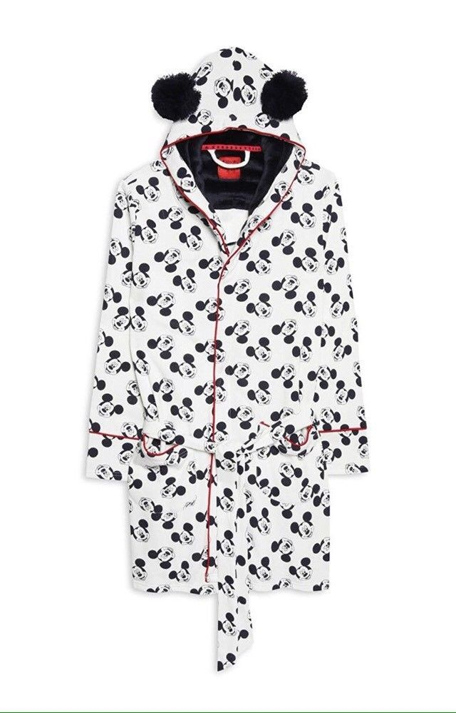 Primark Ladies Disney Mickey Mouse Dressing Gown Girls Bathrobe ...