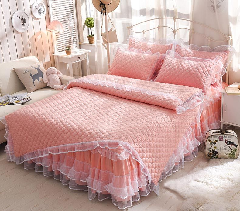 Mugs Thicker Bed Skirt Four Sheets 1 5 8 Bedspreads 4pcs Set Of Korean Princess Sleeves