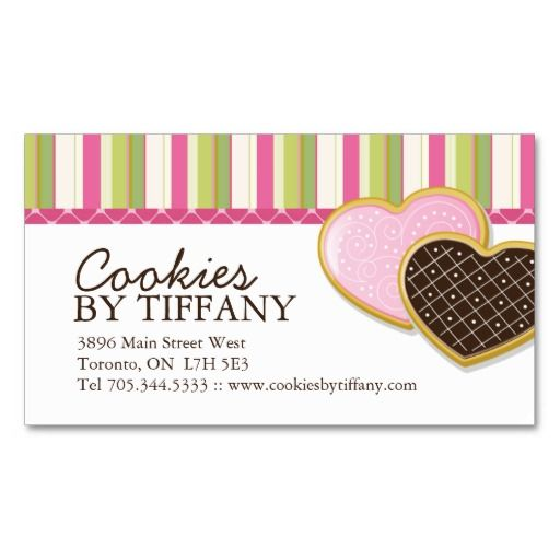 Whimsical Heart Cookies Business Cards Zazzle Com In 2021 Cookie Business Bakery Business Cards Whimsical Heart