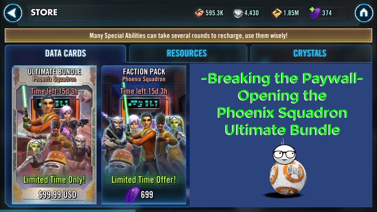 SWGOH - Phoenix Bundle Pack | Going Nerdy | Packing, Phoenix