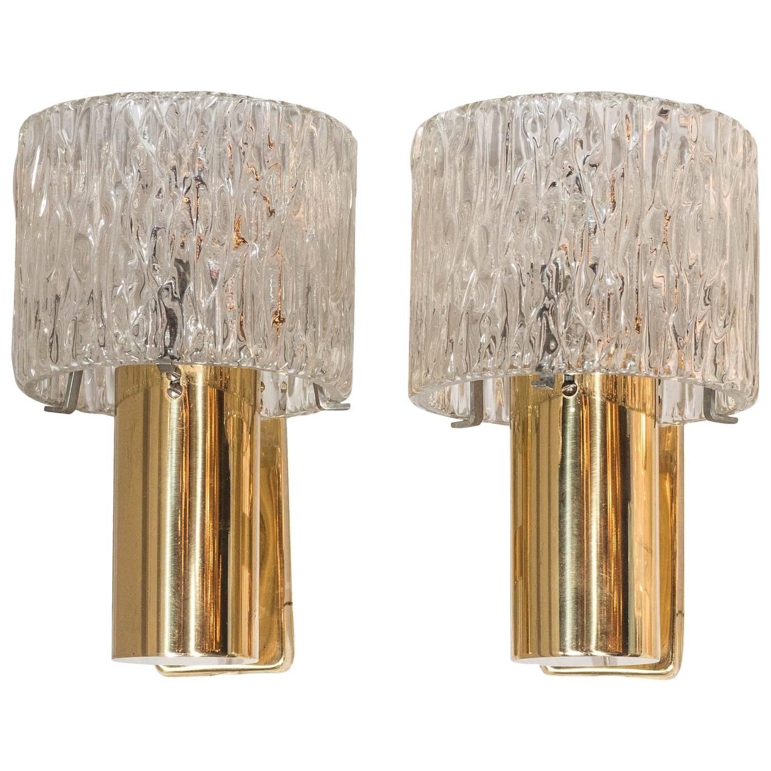 Ultra-Chic Pair of Sconces by Carl Fagerlund for Orrefors ... on Ultra Modern Wall Sconces id=83693