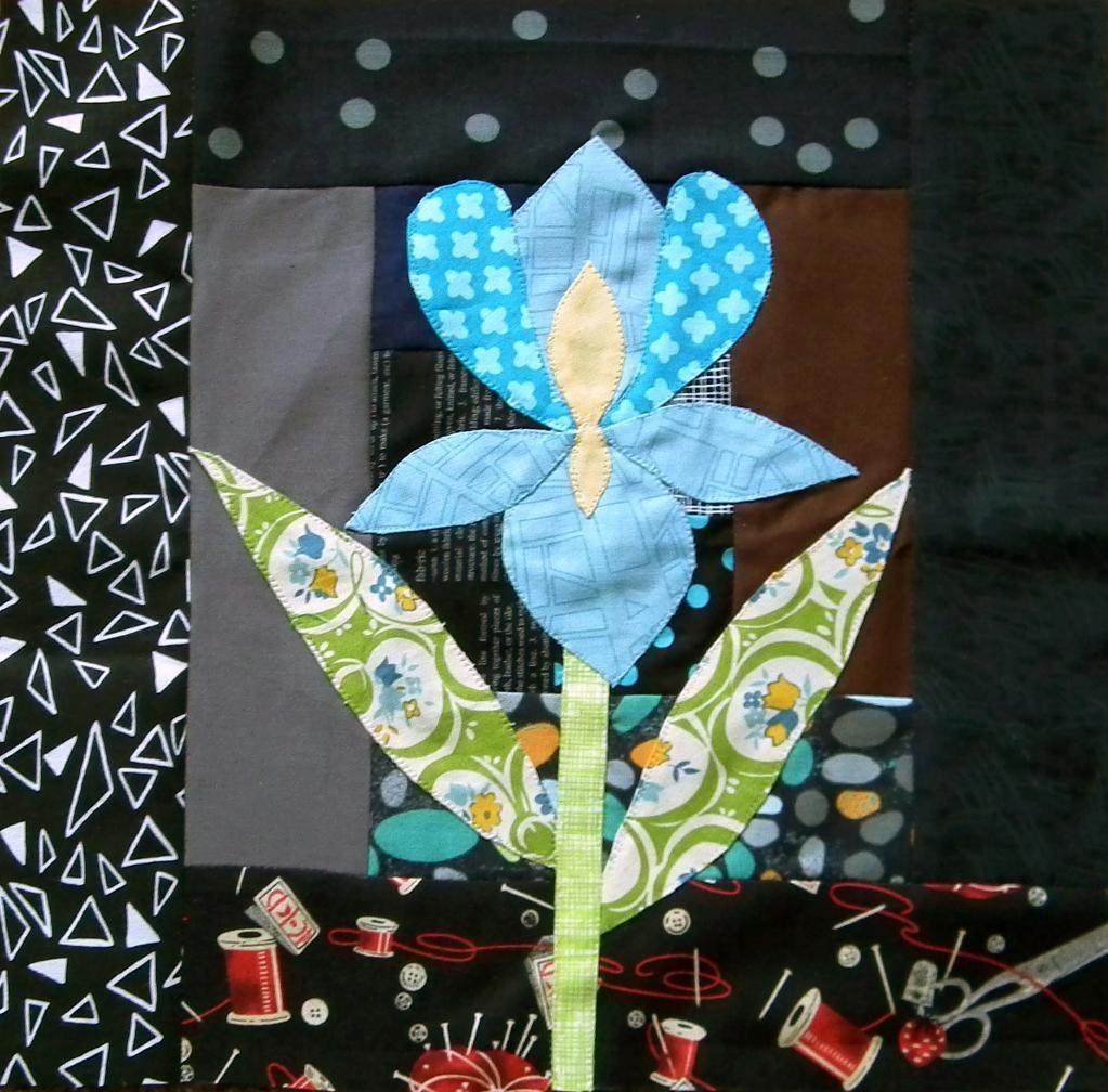 English Country Garden BOM - Iris from Kerry PennyDog! - via @Craftsy