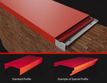 Aluminium Coping Parapet Wall Coping Aluminium Wall