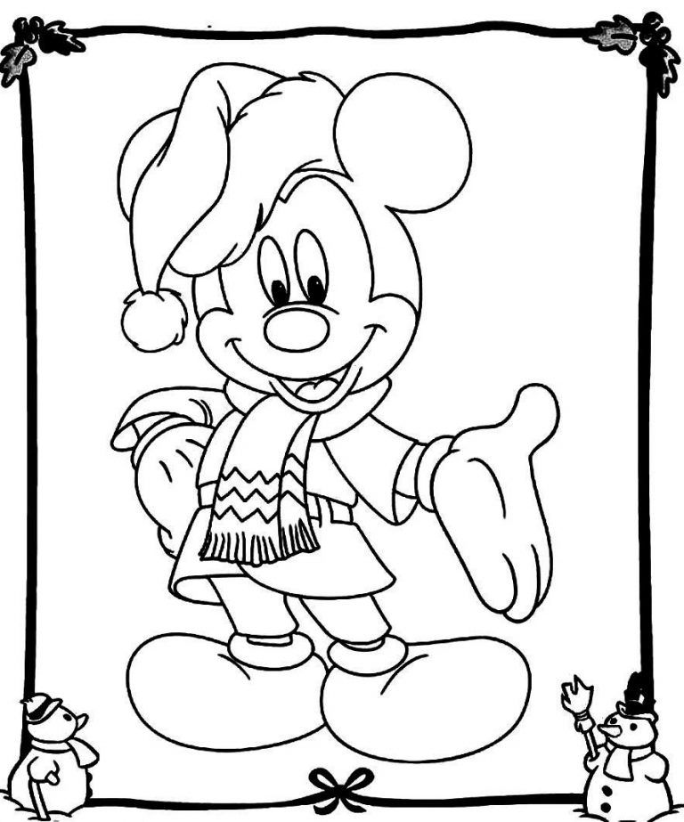 Mickey Mouse Christmas Coloring Pages Best Coloring Pages For Kids Mickey Mouse Coloring Pages Christmas Coloring Sheets Christmas Coloring Books