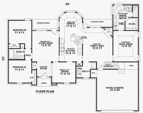 House Floor Plans 1800 Square Feet