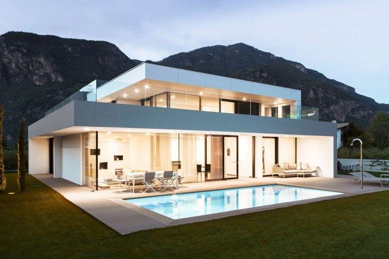 Moderne häuser mit pool  casas modernas pequeñas con piscina - Buscar con Google | Casas ...