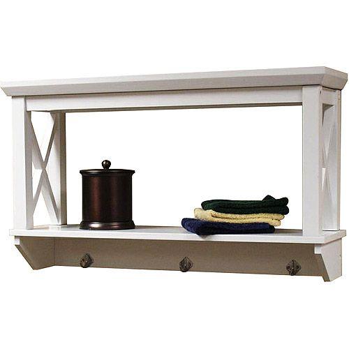 purchase the x frame bathroom wall shelf for less at walmart com save riverridge x