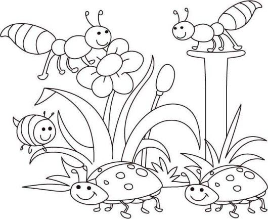Spring Bugs Coloring Pages With Images Spring Coloring Sheets
