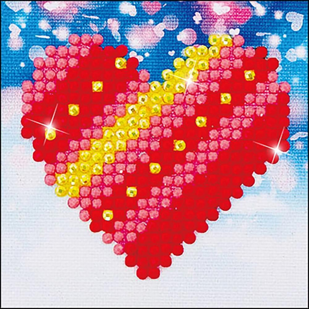 Diamond Dotz Patchwork Heart Love Kids Beginner Facet Art Craft Kit with Frame