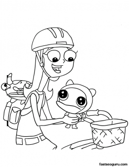Printable Phineas And Ferb Candace And Meap Coloring Pages