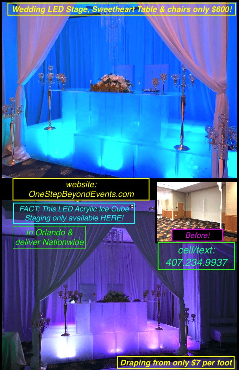 Wedding decorations rental  FACTUp to  less on many items Clear photos on website We