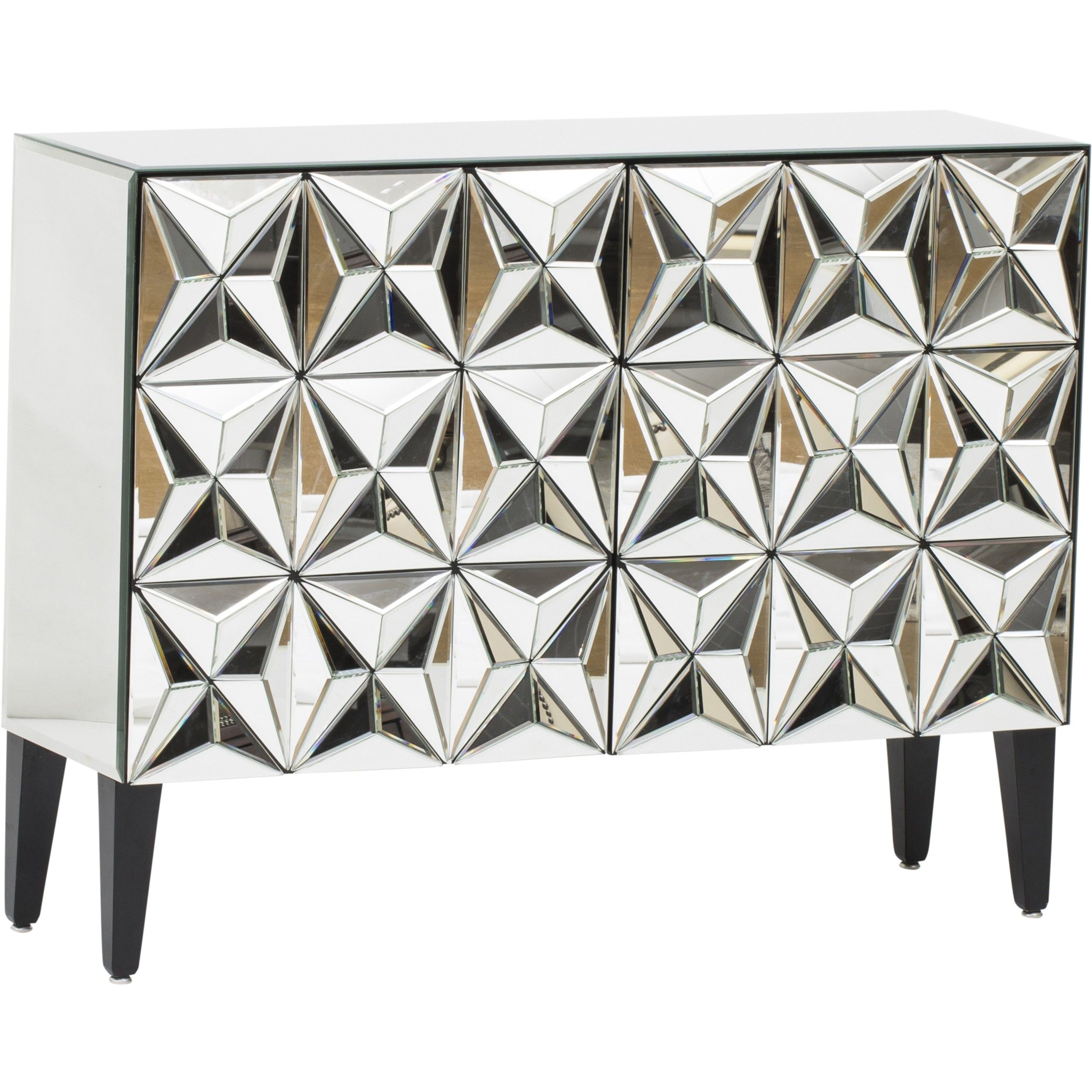 649.00 Hollywood Geometric Mirrored Chest - Living Room - Storage ...