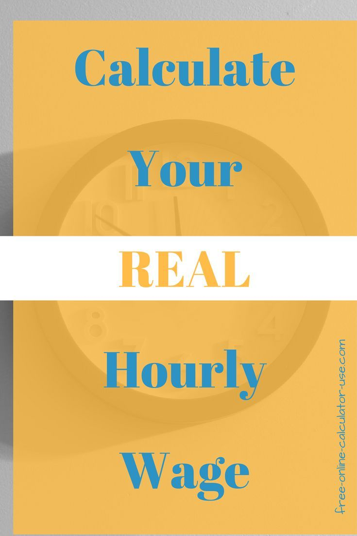 real hourly wage calculator to calculate work hour net profit