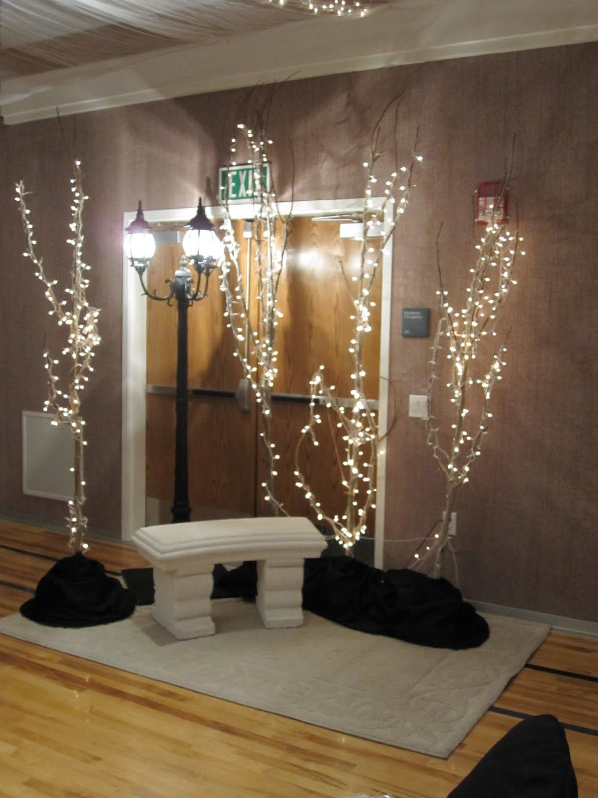 lighted branches for entry holidays pinterest noel deco et noel christmas. Black Bedroom Furniture Sets. Home Design Ideas