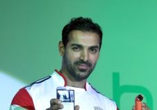 John Abraham launches HTC's new handset