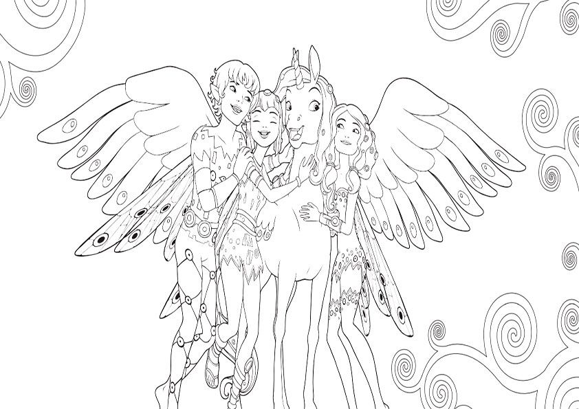mia and me coloring pages  google search  ausmalbilder