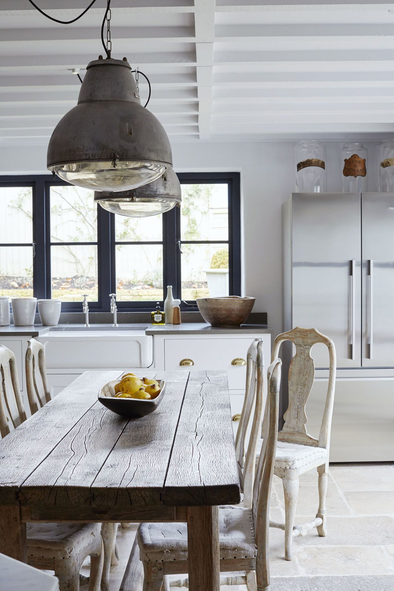 Modern rustic dining room table  This Cotswold cottage has been transformed into a modern rustic