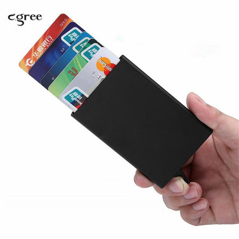 New Credit Card Holder Metal Aluminum Alloy Pop Up Business ID ...