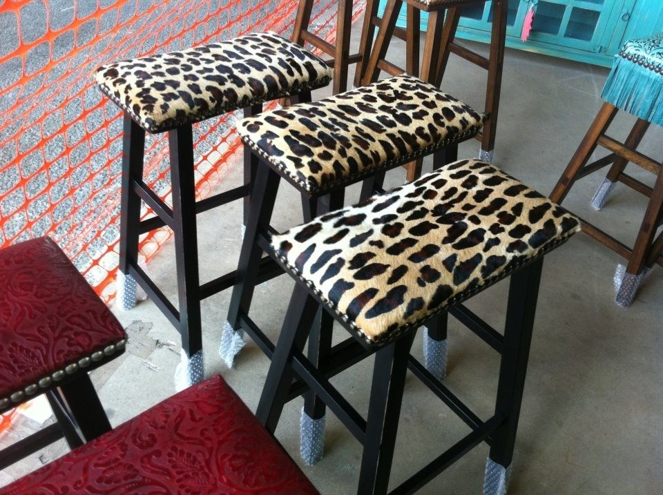 Cheetah Print Bar Stools Leopard Print Chair Diy Home