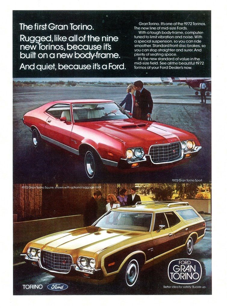 1972 Ford Gran Torino Sport And Squire Station Wagon Automobile