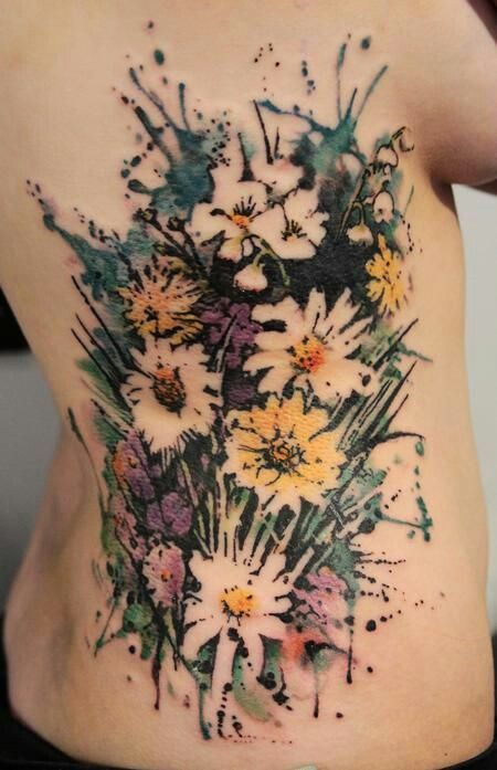 65+ Examples of Watercolor Tattoo | Pinterest | Bouquet tattoo ...