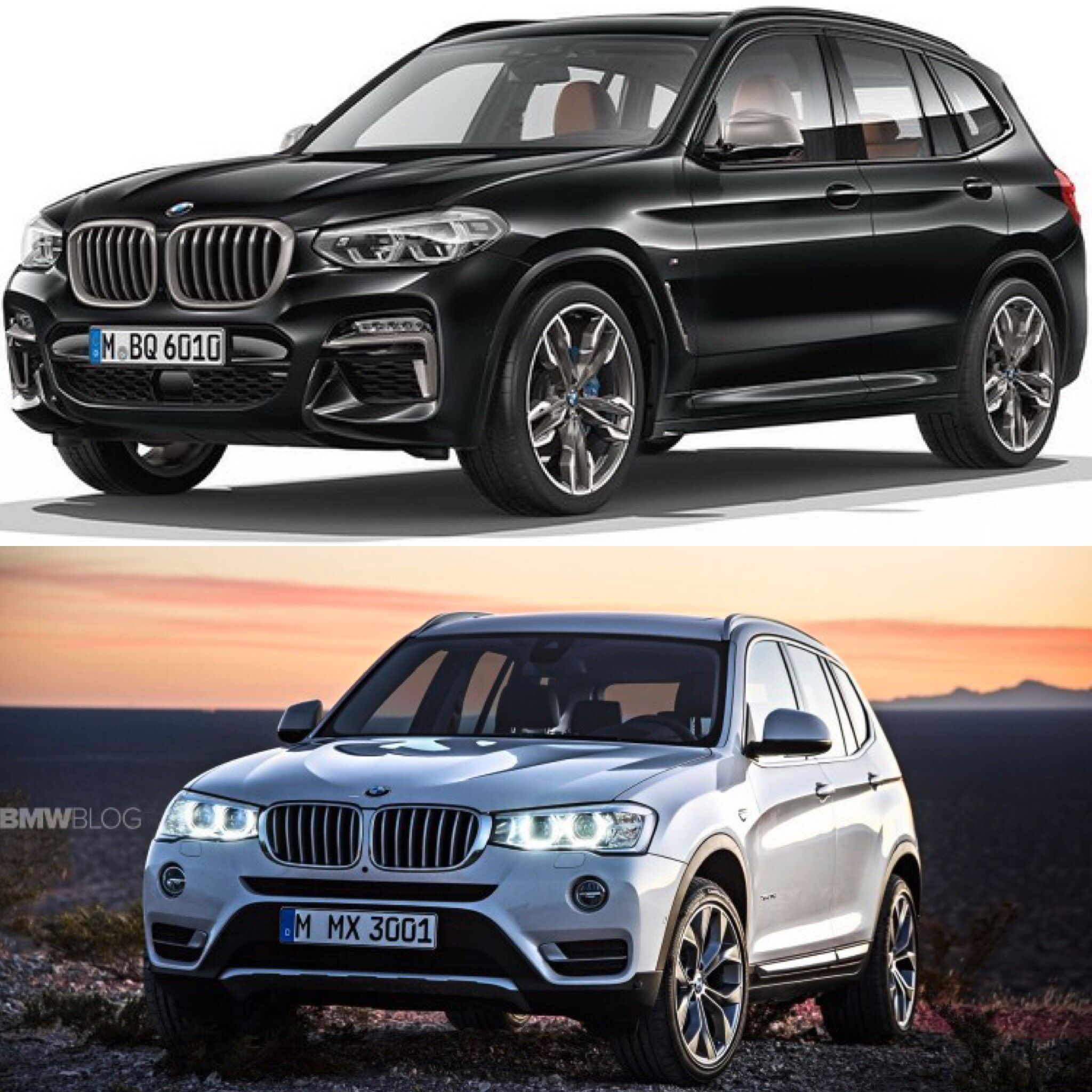 Photo Comparison: G01 BMW X3 Vs F25 BMW X3