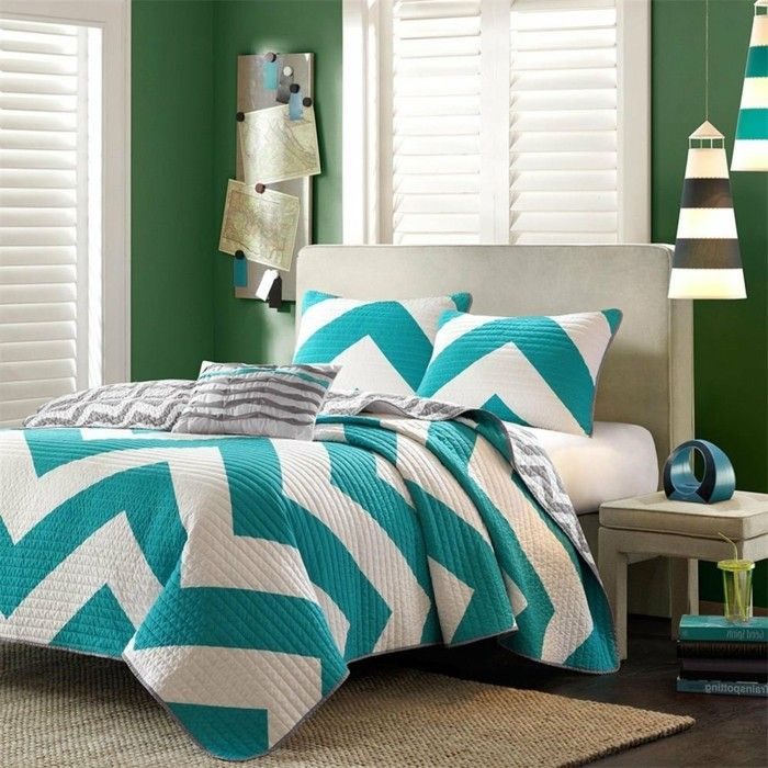awesome chambre turquoise et beige idees id233es