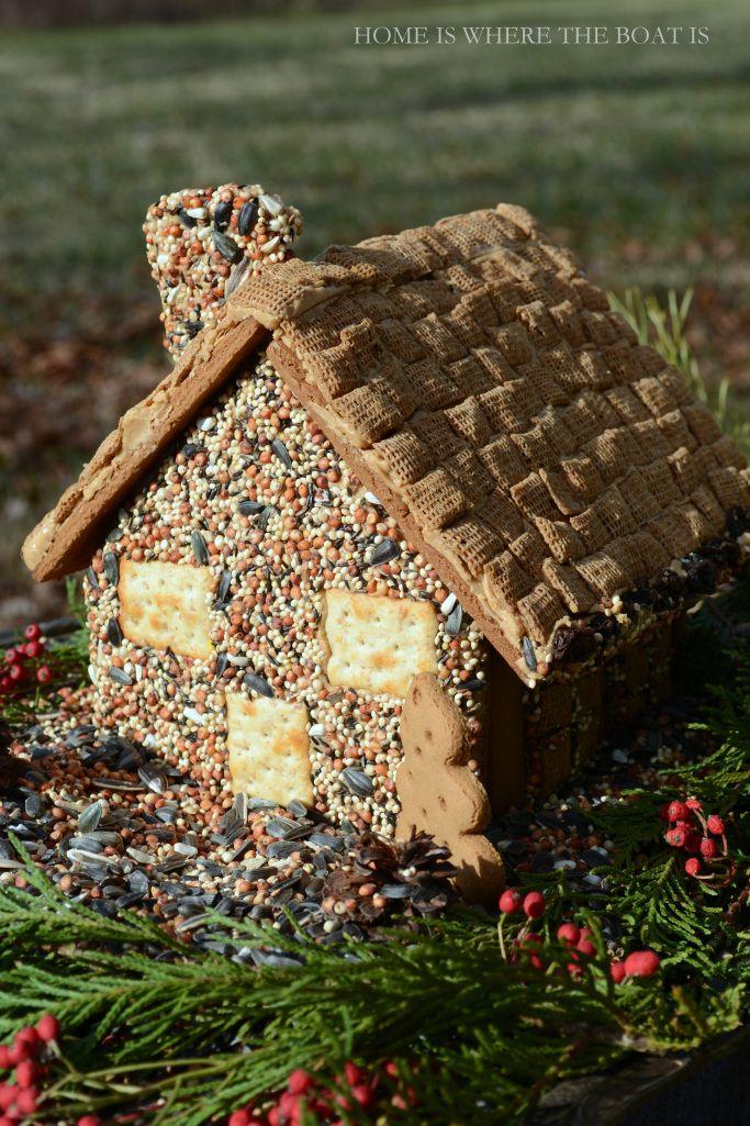 Gingerbread House Bird Feeder Use A Gingerbread House Kit