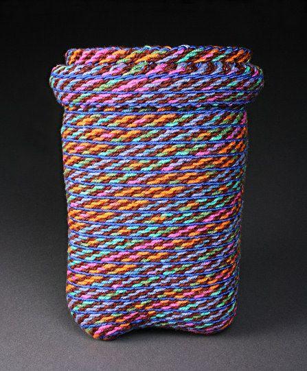 "AVARUA Ply-split basket by Barbara J. Walker 5.25"" H x 4"" D; linen, cotton"
