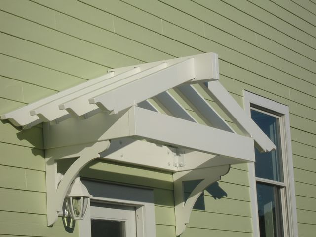 Build A Pergola Over The Laundry Room Door! It Will Mimic Shape Of Roof And