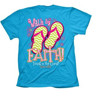 2ab46c64a Blessed Girl Walk By Faith Women's Graphic Tee @Walmart for $11.97 ...