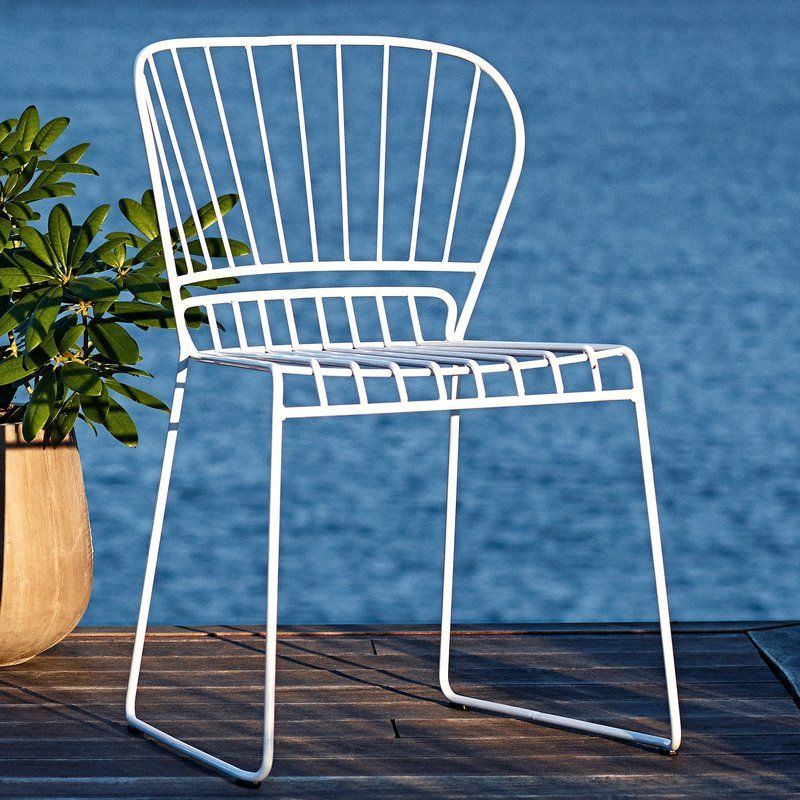 reso stacking patio dining chair side chair modern outdoor