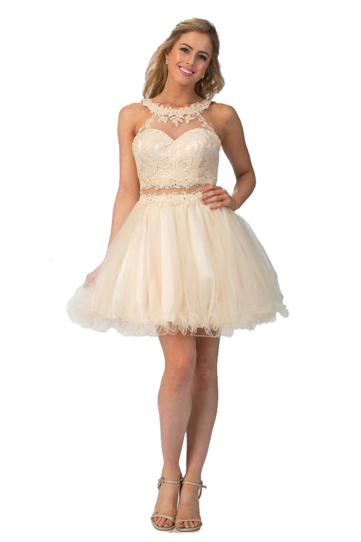 f51f548e4d Short Mock Two Piece Dress with Ruffled Skirt by Star Box 6417 Two Piece  Dress