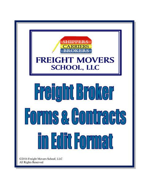 Freight Broker Forms Contracts Trucking Business Brokers Courier Jobs