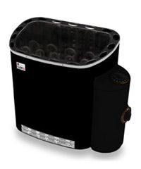 A number of SAWO electric sauna heater models are also available with an optional fibre coated black casing which aside from changing the look of the heater also makes the heater body cooler to touch.  By SAWO Finland. Visit us at http://thesaunacompany.com/