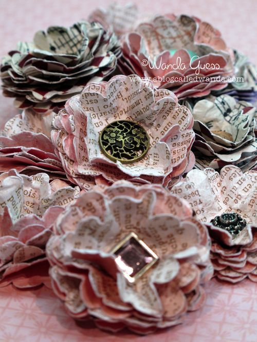 Vintage Look Paper Flowers 160613 Pinterest Scrapbook Paper