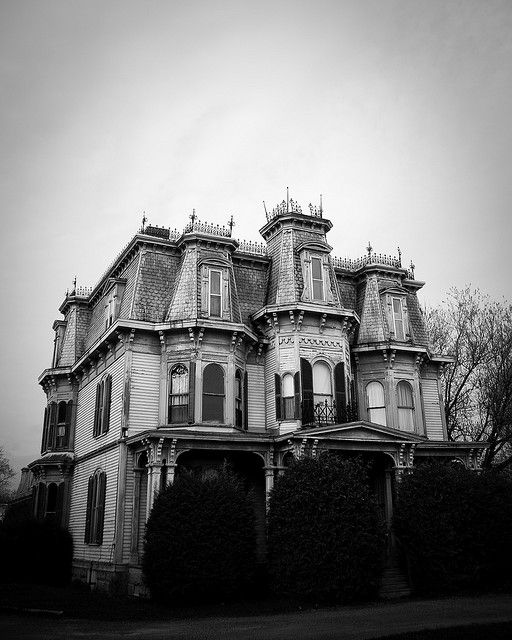 Old House, Second Empire with Italianate influences, located in St. Stephen, Canada