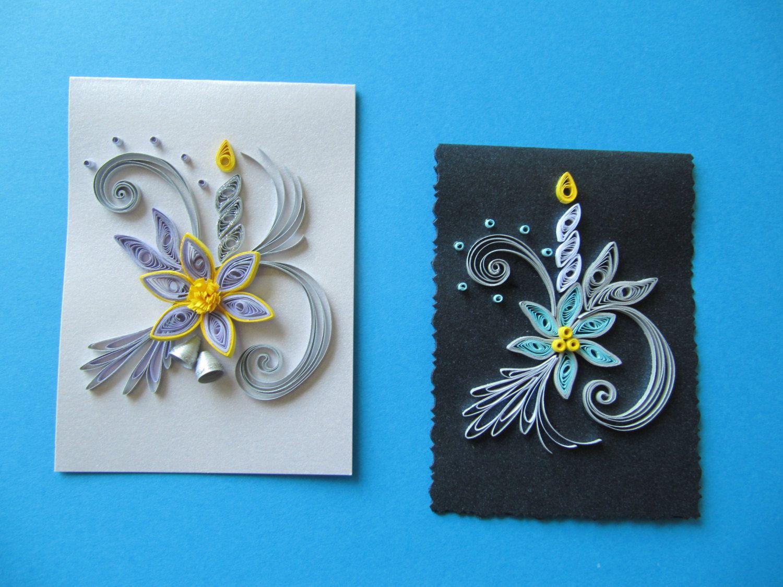 Set of 3 christmas handmade mini greeting cards paper quilling set of 3 christmas handmade mini greeting cards paper quilling kristyandbryce Gallery