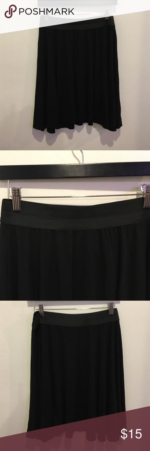 Black plus size skirt Worn once. I cut the size take off but fits like a plus size 14. Elastic waist band. zay clothing Skirts Mini