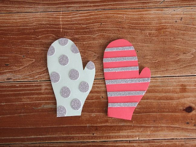 Diy craft mitten homemade holiday cards