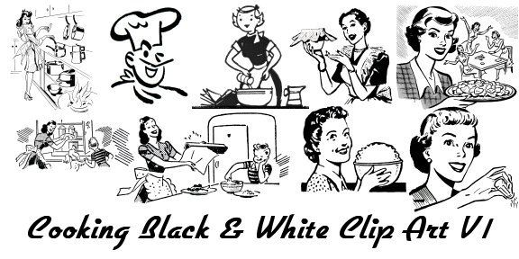 Retro Cooking Clipart