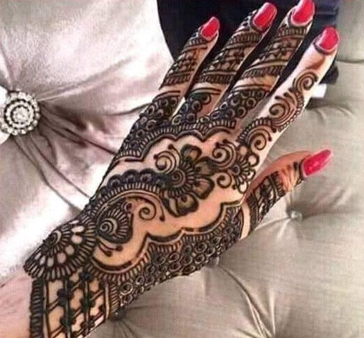 Mehndi Front Design 2017 : Amazing hand mehndi designs gallery latest collection