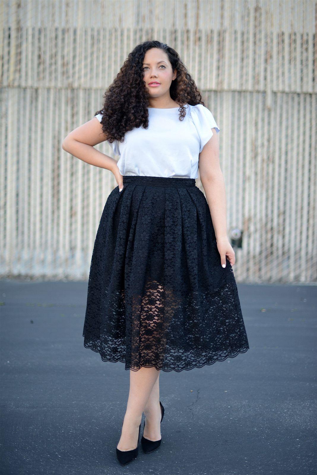Tanesha Awasthi - Lace Midi Skirt | { Plus size clothing ...