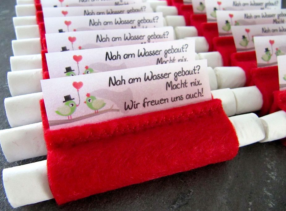 Freudentrnen Taschentcher 20x Rot Hochzeit Standesamt