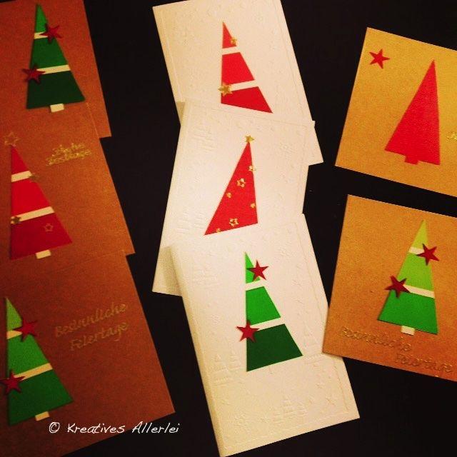 tolle diy weihnachtskarten aus dem baumarkt advent. Black Bedroom Furniture Sets. Home Design Ideas
